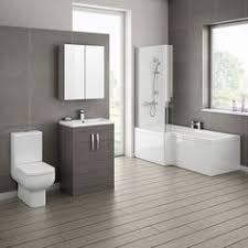 bathroom suite ideas grey avola bathroom suite with l shaped bath home