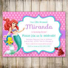 little mermaid birthday invitation ariel invitation ariel