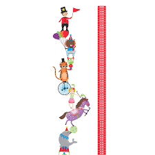 personalised circus height chart wall stickers by kidscapes personalised circus height chart wall stickers