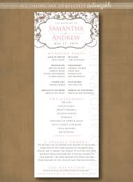 classic wedding programs classic and wedding ceremony program printable printable