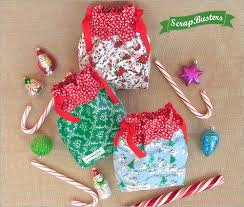 drawstring gift bags scrapbusters mini drawstring gift bags sew4home