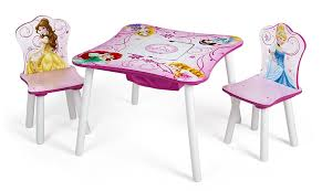 com delta children table and chair set with storage disney princess baby