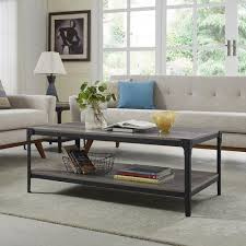 walker edison coffee table walker edison furniture company angle iron rustic wood coffee table