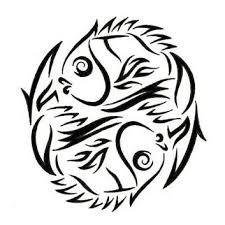 collection of 25 fish pisces tribal stencil
