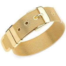 buckle bracelet gold images Guess mesh buckle belt bracelet gold tone shoppers galore jpg