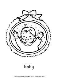baby colouring pages kids