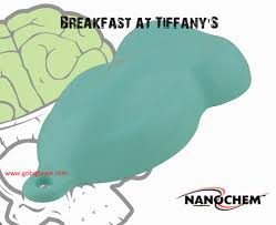 nanochem breakfast at tiffany exact match blue color woman