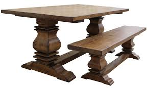 Solid Oak Dining Room Furniture by Solid Wood Double Pedestal Large Rectangular Dining Table Trestle