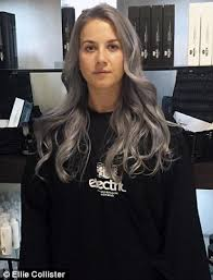 flesh color hair trend 2015 five women dye their hair grey for femail daily mail online