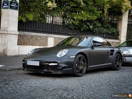 black porsche 911 turbo porsche 911 turbo 997 matte black ludovic scludo com flickr