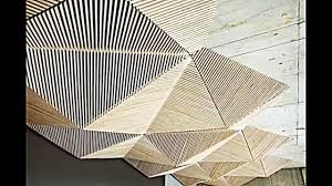 Buro Einrichtung Beton Holz Abgehängte Decke Gestaltungsidee Von Der Origami Kunst