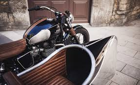 triumph bonneville t100 based side car project by baak