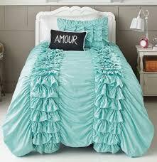 Waterfall Comforter Bedroom Ruffle Bed Set Ruffle Comforter Ruffle Queen