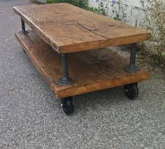 reclaimed wood coffee table crate dolley galvanized pipe metal