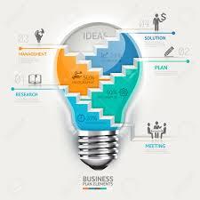 banner design ideas business concept infographic template lightbulb staircase idea