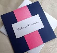 Credit Card Wedding Invitations Pocket Fold Wedding Invitation Navy Blue Event Invitation