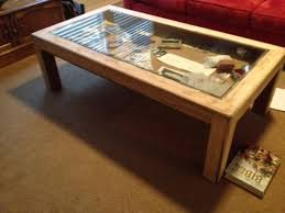 Remodelaholic How To Build A Desk With Wood Top And Metal Legs by How To Build Glass Top Shadow Box Coffee Table Shadow Box Coffee