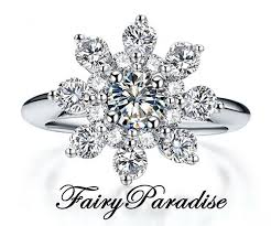 jewelry promise rings images 0 5 ct center stone snowflake promise ring right hand ring jpg