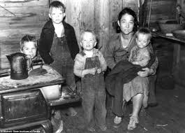 poignant pictures show how the poorest of families survived the