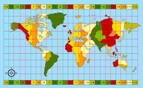 Africa Time Zone Map by Time In South Africa Gmt London Time Sydney Time
