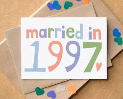 20th wedding anniversary 20th wedding anniversary card married in 1997 card