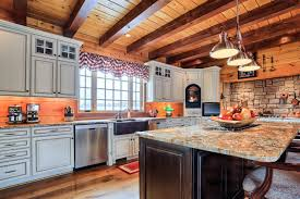 kitchen island storage and organization solutions for log homes
