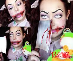 halloween 2013 evil doll makeup youtube
