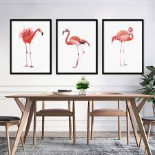 watercolors landscapes promotion shop for promotional watercolors watercolor flamingo canvas art print painting poster wall pictures for home decoration wall decor