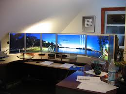computer room ideas outstanding computer room with long curved monitor in small space