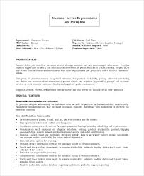 Resume Job Description by Sample Customer Service Representative Resume 7 Examples In Pdf