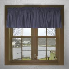 Blue Valances Window Treatments Solid Navy Blue Color Valance In Many Lengths Custom Size