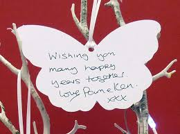 wedding wish tags inspired by script personalised wedding wishing tree tags