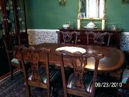 ethan allen dining table and chairs used ethan allen dining room table kinoed me