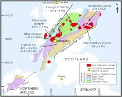 map of scotland and simplified regional geological map of scotland and northern