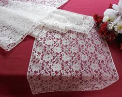 ivory lace table runner lace runner ivory lace table runner custom made runner