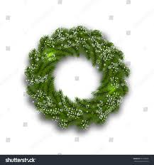 Christmas Tree Wreath Form - green tree branch form christmas wreath stock vector 521326636