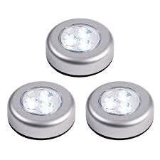 battery operated under cabinet light set of 3 battery operated led push lights with 3m pads by