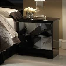 Modern Black Nightstands Attractive Black Nightstand With Drawers Standard Furniture