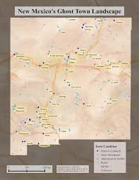 The Ghost Map New Mexico U0027s Ghost Towns Landscape Earth Data Analysis Center