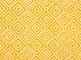 Vintage 60s Home Decor by Geometric Cotton Fabric By The Yard Yellow And White Rhombus