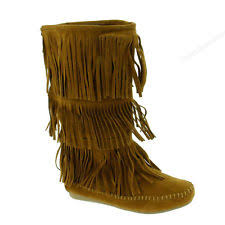 womens fringe boots size 9 hush puppies hushed womens size 9 suede fashion mid calf boots