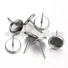 stainless steel stud earrings wholesale flat stainless steel stud earring components