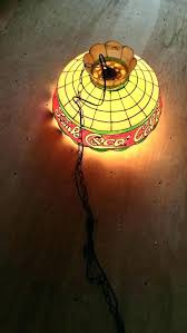 coca cola pendant lights coca cola tiffany l medium pendant light 2 bulb pull chain