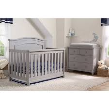 Convertible Crib Set Simmons 2 Convertible Crib Set Gray