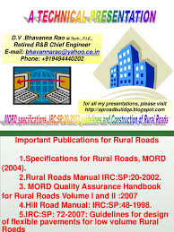 mord specifications and manual rural road construction pdf