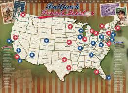 Kauffman Stadium Map Amazon Com Ballpark Travel Quest Poster Set Posters U0026 Prints