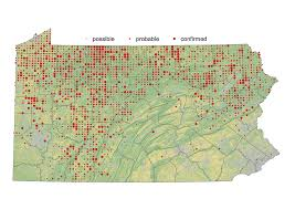 Penn State Map by Review Second Atlas Of Breeding Birds In Pennsylvania By Drew