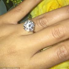 fiancee ring angela simmons engagement ring carats sparta rings