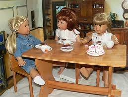 18 inch doll kitchen furniture wooden rustic table american doll furniture doll kitchen
