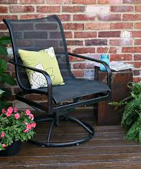 Metal Patio Chair The Easy Way To Paint Metal Patio Furniture Petticoat Junktion